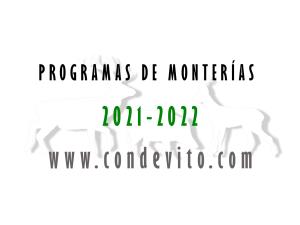 Programa de monterías recomendados temporada 2021-2022