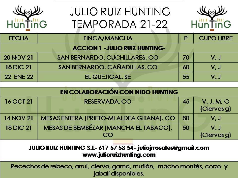 Monterías Julio Ruiz Hunting